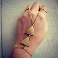 triangle double ring slave bracelet