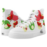 Watermelon monster fruit illustration printed shoes