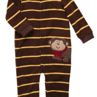 Carter's Baby Boys' Infant Long Sleeve One Piece Snap Fleece Coverall - 9 Month