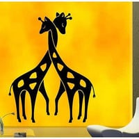 Giraffe Love Inspirational Wild Animals Decor Wall Decal Art Vinyl Sticker tr656