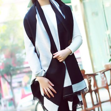 Women's Winter Warm Comfortable Scarf Wrap Shawl Cape