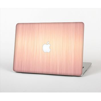 "The Rose Gold Brushed Surface Skin Set for the Apple MacBook Pro 13"" with Retina Display"