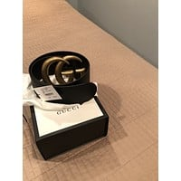 New Gucci Women Authentic Wide GG Gucci Belt Size 85
