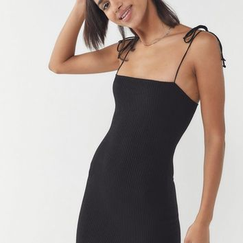 Motel Verso Tie-Shoulder Mini Dress | Urban Outfitters