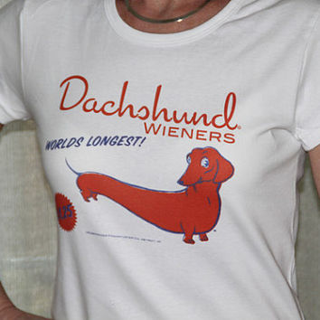 Dachshund wiener label Tshirt by rubenacker on Etsy