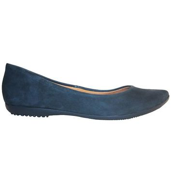 Chelsea Crew Grace - Blue Slip-On Pointy Toe Flat