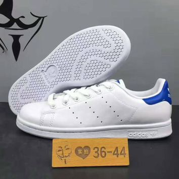 Adidas Superstar Smith Running Sport Casual Shoes Sneakers White blue