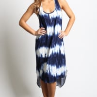 Mittoshop Button Tie-Dye Tank Dress