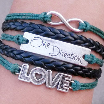 One direction bracelet, infinite, infinite hope, a Directioner, lovebracelet, the gift of friendship