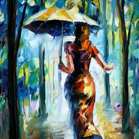"Running Towards Love — PALETTE KNIFE Oil Painting On Canvas By Leonid Afremov - Size: 24"" x 36"" from afremov art"