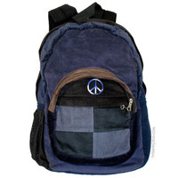 Peace Corduroy Patchwork Backpack on Sale for $39.99 at HippieShop.com