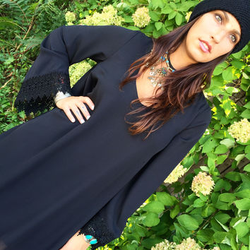 Show Me Your Mumu // Portabella Dress - Black Crisp