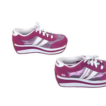 Vintage Platform Sneakers Skechers Sneakers Purple Sneakers Purple Skechers Tennis Shoes