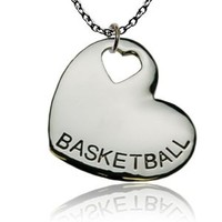 Basketball Sport Heart Necklace