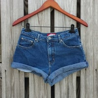 High Waisted Denim Shorts - Jean Cutoffs - Cuff or Uncuff - Jeans Shorts Size US 6