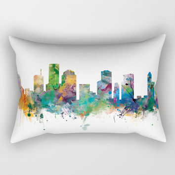 Houston Skyline Rectangular Pillow by monnprint