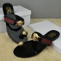 One-nice™ Versace Women Casual Fashion Flat Sandal Slipper Shoes