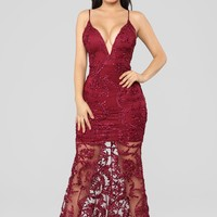 Ready To Dance Dress - Berry