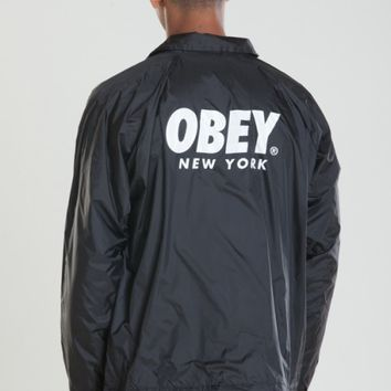OBEY WORLDWIDE NEW YORK COACHES JACKET