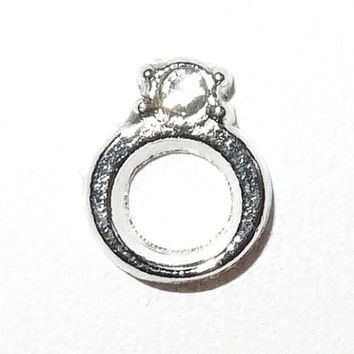 Ring Floating Charm for Memory Lockets