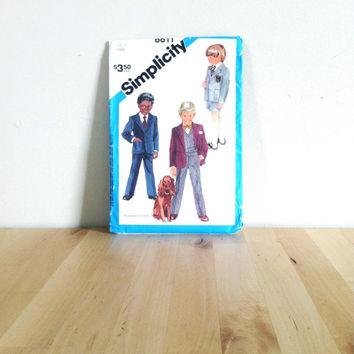 Simplicity 6611 Child's Pants or Shorts and Unlined Jacket {1984} Vintage Sewing Pattern
