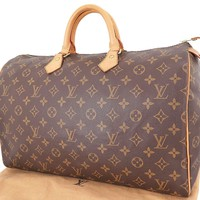 Authentic LOUIS VUITTON Speedy 40 Monogram Boston Hand Bag Purse #23697