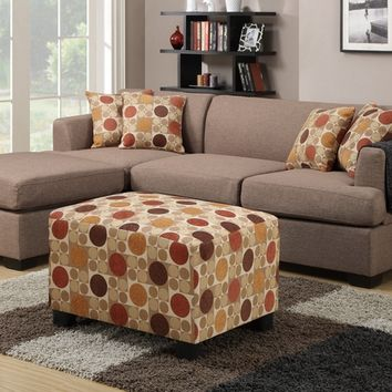 2 pc Jaimeson II collection stone blended linen fabric upholstery sectional sofa set with reversible chaise