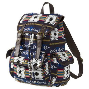 Mossimo Supply Co. Ethnic Printed Double Buckle Backpack - Blue