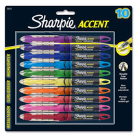 Sharpie Accent 10 Color Liquid Pen-Style Highlighter (1-Card)