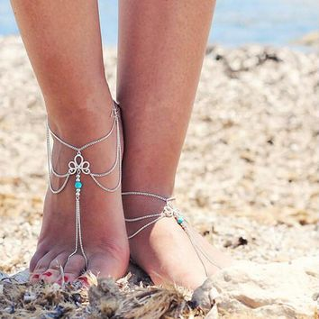 Imperial Crown Shape Barefoot Sandal Jewelry
