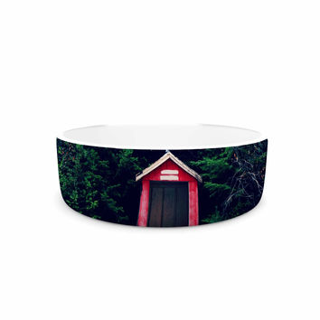 "Robin Dickinson ""Red In Woods"" Forest Pet Bowl"