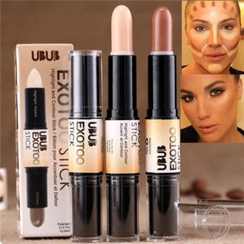 Double-ended 2 in1 Contour Stick Makeup Creamy Highlighter Bronzer Create 3D Face Makeup Concealer Full Cover Blemish