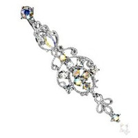 Belly Button Ring Navel Victorian Chandelier Body Jewelry Dangle 14 Gauge HO292