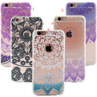 Lace Floral Case for iPhone 7 7Plus & iPhone se 5s 6 6 Plus Best Protection Cover +Gift Box-87