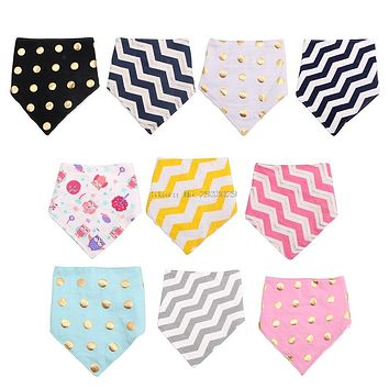 Baby Boy Girls Kids Bandana Bibs Infant Saliva Towel Dribble Triangle Head Scarf -B116