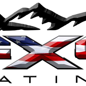 FX4 Platinum Mountains American Flag 3D Vinyl Decal Fits All Makes and Models