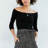 Silence + Noise Striped Tie-Waist Short