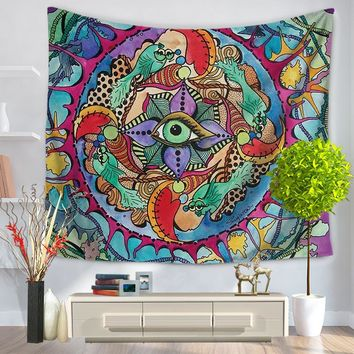New Style Mandala Tapestry Wall Hanging Table Cloths for Modern Home Wearable Beach Blanket Yoga Mat Two Size Free Shipping