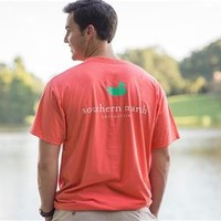 Southern Marsh Authentic SS Pocket Tee in Coral