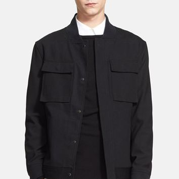 Men's Public School Round Collar Denim Jacket