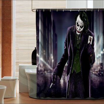 Batman Dark Knight gift Christmas Popular Batman Clown  fashion custom Shower Curtain Bathroom decor various sizes Free Shipping MORE SIZE SQ0421-ZHH AT_71_6