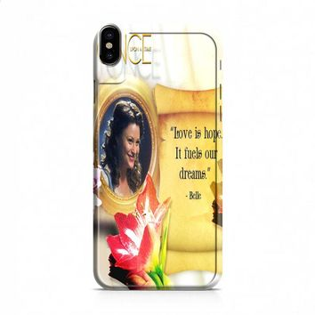BELLE ONCE UPON A TIME iPhone X case
