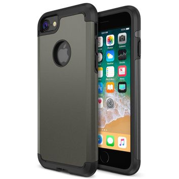 iPhone 8 Case, Trianium Protanium Apple iPhone 8 Case (2017) with Heavy Duty Protection / Shock Absorption / Dual Layer TPU + Rigid Back Armor / Scratch Resistant / Reinforced Corner Frame -Gunmetal