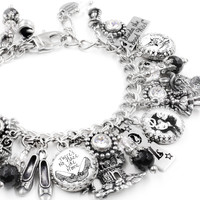 Silver Wizard of OZ Charm Bracelet