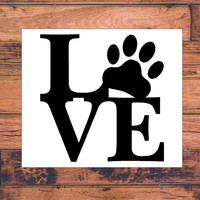 Love Dog Decal | Dog Mom Decal | Dog Dad Decal | Dog Family Decal | Love Sticker | Love Decal  | Car Decal | Car Stickers | Bumper | 024