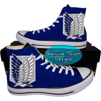 Custom Converse, Attack on Titan, Fanart shoes, Anime shoes, Custom chucks, painted sh