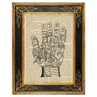 Palmistry Palm Reading Chart Art Print
