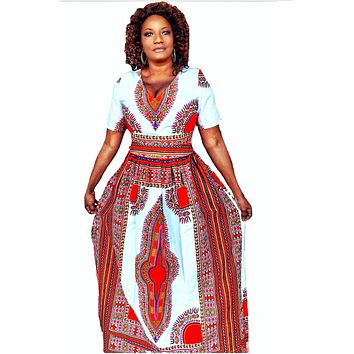 Kissi African Dashiki Maxi Dress