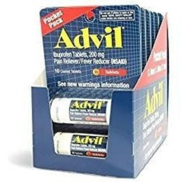 Advil Ibuprofen, 200 MG Pain Reliever - 2 Vials of 10 Tablets