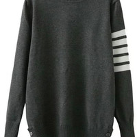 Buttons Side Long Sleeve Sweater